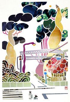 Mayuko Fujino papercut art