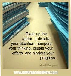 Reasons why it's so important to clear the clutter from your life...