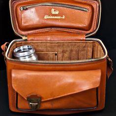 1950s Vintage Perrin Plainsman-2 Leather Camera Case #vintage #camera #1950s $85