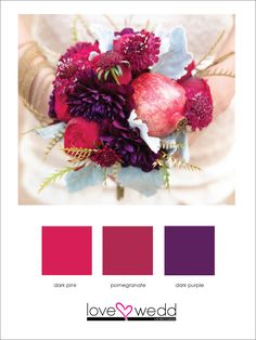 pink and purple #color palette #wedding