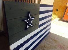 Dallas Cowboys wood flag