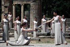 2012 Olympic torch lit in Ancient Olympia #outdoorsgr
