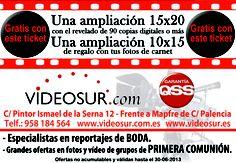 Descuentos en VIDEOSUR ¡¡¡DALE LA VUELTA AL TICKET!!! del DIA% de C/ Poeta Manuel de Góngora.