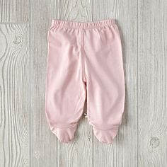 6-12 Months Babysoy Footie Pants (Pink)