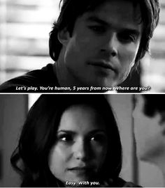 "#TVD 6x19 ""Because"" - Damon and Elena"