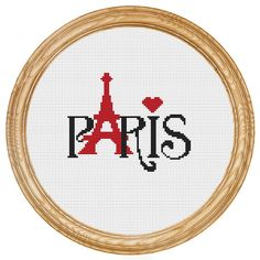 Cross Stitch Pattern PDF Paris DD0029 by HappyStitches4You on Etsy, $5.00