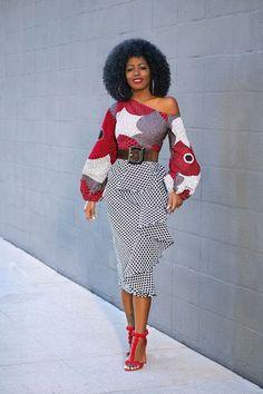 Off Shoulder Ankara Dress (Style Pantry) - Featured Dresses African Fashion Ankara, Ghanaian Fashion, Latest African Fashion Dresses, African Print Fashion, Africa Fashion, African Wear, African Attire, African Dashiki, African Women Fashion
