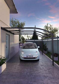 Votre abri de terrasse peut également vous servir à protéger vos véhicule !