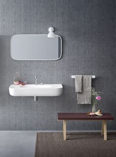 Material deco - Esperanto + Fibra, design by Monica Graffeo #rexa #design #bathroom #bath #design