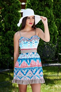 Rochie Fofy Sunny Days Turquoise. Rochie Fofy divina, perfecta pentru aceasta vara. Alege imprimeuri interesante si adopta un stil…