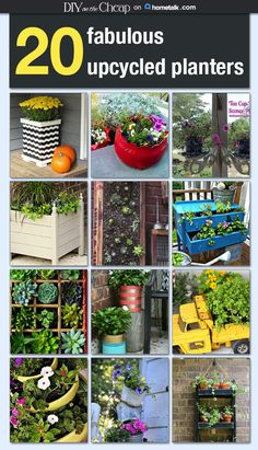 I'm going to start saving some 'junk' to use as planters this spring and summer.