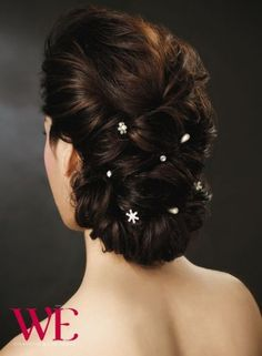 Trendy Ideas hair bun art inspiration - All For Hairstyles DIY Indian Wedding Hairstyles, Bride Hairstyles, Hairstyles Haircuts, Pretty Hairstyles, Bridal Hair Buns, Bridal Hairdo, Hairdo Wedding, My Hairstyle, Long Hair Cuts
