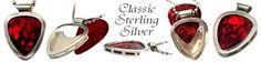 Sterling Silver pendant PICKBAY GUITAR PICK Necklace HOLDS guitar picks NEW Sale | eBay #music