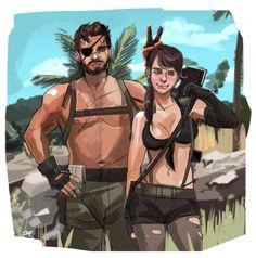 Venom Snake and Quiet Metal Gear V, Metal Gear Solid Quiet, Snake Metal Gear, Metal Gear Games, Metal Gear Solid Series, Metal Gear Rising, Cry Anime, Anime Art, Metal Meme