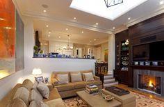 Obývací pokoj ve znamení čisté linie