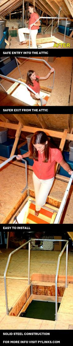 Versa Lift Attic Ladder Safety Railing, Model# VR-60 [Misc.], Versa Rail is the attic safety rail and offers an excellent value for homeowners. It is strong, well made, and it fits almost every floor based attic access entryway. Beyond its purchasing value, and ..., #Tools & Hardware, #Stepladders
