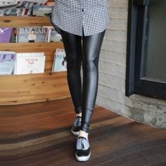 Faux Leather-Panel Leggings Pants  from #YesStyle <3 Soneed YesStyle.com