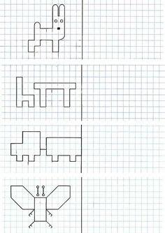 Тест нарисуй фигуру по клеточкам