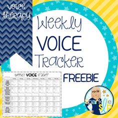 The voice tracker is designed for student/family use as a chart to document vocal hygiene, reduction of vocal abuse, belly breathing, voice technique practice, and voice rating.Included in this freebie material:Credits (cover & pg. 2) Contents (pg. 3)Weekly Voice Tracker (pg. 4)This form is not editable.You may also like:Back to SpeechOpen-Ended Articulation Thematic WorksheetsMonthly Themed Speech and Language Activities BUNDLECreated by Sparklle SLP