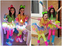 Girls Neon Tutu Light Up Tutu Dance Wear Birthday Party Girls