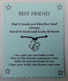 Hey, I found this really awesome Etsy listing at https://www.etsy.com/listing/235038825/best-friend-wish-bracelet-friendship
