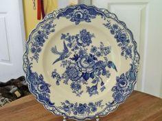 BRISTOL TRANSFERWARE DINNER PLATE Crown Ducal Ceramic Plates, Decorative Plates, English China, Cupboards, Dinner Plates, Bristol, Crown, Ceramics, Antiques