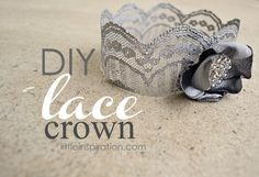 diy lace crown for baby girl @ericamcdevitt you need to do these!!!