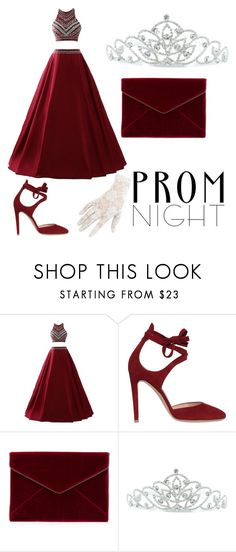"""Prom Night"" by gracieford10 ❤ liked on Polyvore featuring Gianvito Rossi, Rebecca Minkoff, Kate Marie and Black"