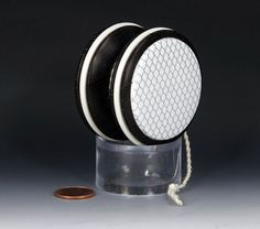 African Wenge wood with white accents, fixed axle butterfly yoyo, by yoyospin
