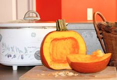 How to Cook a Pumpkin in a crock pot. Super easy and fresh pumpkin makes all the pumpkin recipes taste so much better!