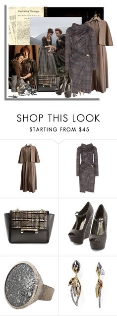"""""""Work Wear Inspired by Outlander"""" by signaturenails-dstanley ❤ liked on Polyvore featuring Yves Saint Laurent, Salvatore Ferragamo, Diane Von Furstenberg, Todd Reed and Alexis Bittar"""