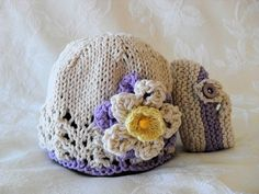 Sombrero del bebé tejido bebé tejido mano de por CottonPickings