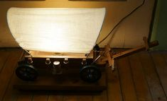 Vintage Covered Wooden Western Wagon TableTop  by TheDecoHotel