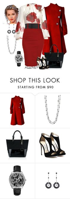 """""""Red/Black/White"""" by manda3482 ❤ liked on Polyvore featuring David Yurman, Ralph Lauren Black Label and GUESS"""