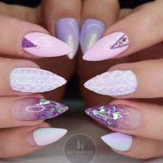 Pastel Pink, Purple, and Glitter Fade with Mylar