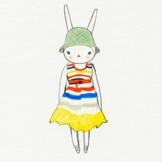 fifi lapin, the most stylish rabbit, in a MbMJ dress I'm still coveting.