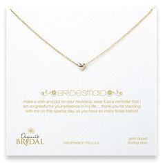 """bridesmaid 16"""" heart necklace"""