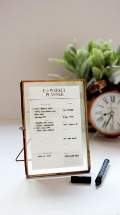 Glass Encased  Planners