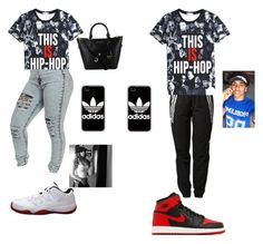 """""""The 2 Besties"""" by love04444 ❤ liked on Polyvore featuring adidas and NIKE"""