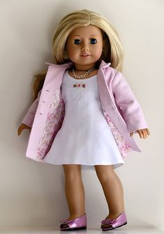 American Girl Sheath Dress and Coat Ensemble by Simply18Inches.