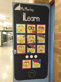 Check out our awesome emoji classroom door my co-workers and I put together. The post Check out our awesome emoji classroom door my co-workers and I put together. appeared first on Tecnology. Computer Lab Classroom, Owl Theme Classroom, 3rd Grade Classroom, Classroom Door, Classroom Design, Classroom Displays, Classroom Calendar, Computer Class, Preschool Classroom