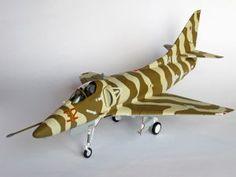 """Model amerykańskiego samolotu szturmowego. Model plastikowy, ręcznie złożony i ręcznie pomalowany w skali 1:32.    """"A-4E Sky Hawk VA-126"""" (051942) - this is model of US aircraft assault. This is plastic model, hand-glued and hand-painted in 1:32 scale models."""