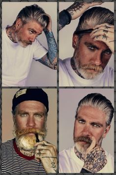 Miles 'Better' Chaplin; one of the two hottest, bearded, tattooed, models out there!!  Ricki Hall is tied with him for 1st place. ;-)