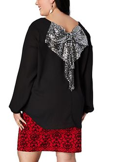 image of Sequin Flutter Bow Back Popover