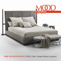 FLEXFORM MOOD ICARO #bed designed by Roberto Lazzeroni. Find out more on www.flexform.it