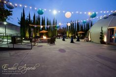 Market lights and lanterns create a fun and festive atmosphere on our Pavilion Patio!