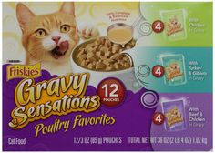 Friskies Poultry Favorites Cat Food, Variety Pack, 12 Pouches, 3 oz each -- Check this awesome product by going to the link at the image.