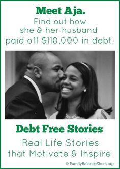 Meet Aja. She & her husband Paid Off $110,000 in Debt