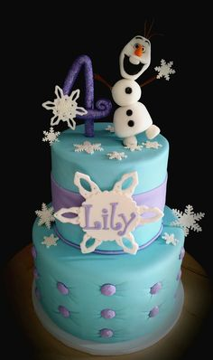 DISNEY FROZEN CAKE WITH OLAF - DISNEY FROZEN CAKE, OLAF, ELSA, ANNA
