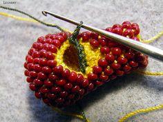 Мастер-класс по раздвоению жгута (вязание столбиком) | biser.info - всё о бисере и бисерном творчестве